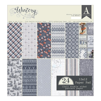 Authentique WINTERY 12 x 12 Paper Pad WIN011