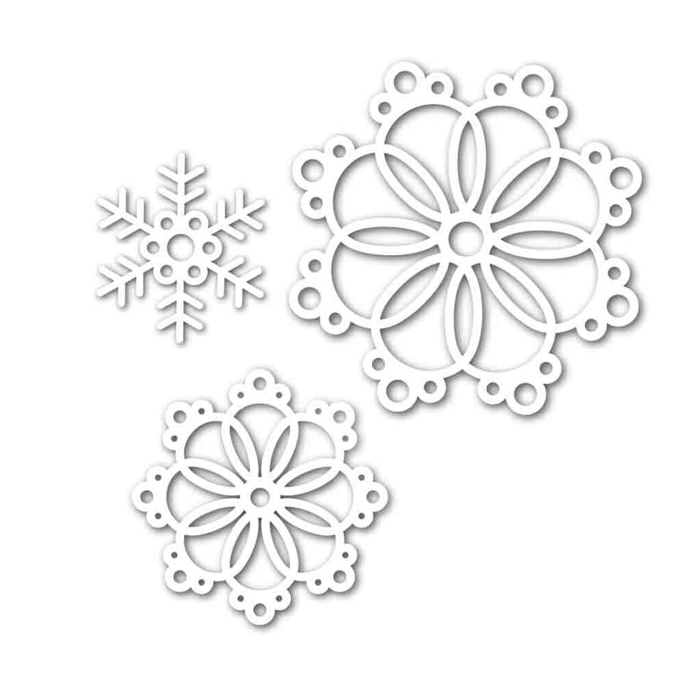 Simon Says Stamp Die Set SNOWFLAKES FOR THE SEASON Set284SS Believe In The Season zoom image