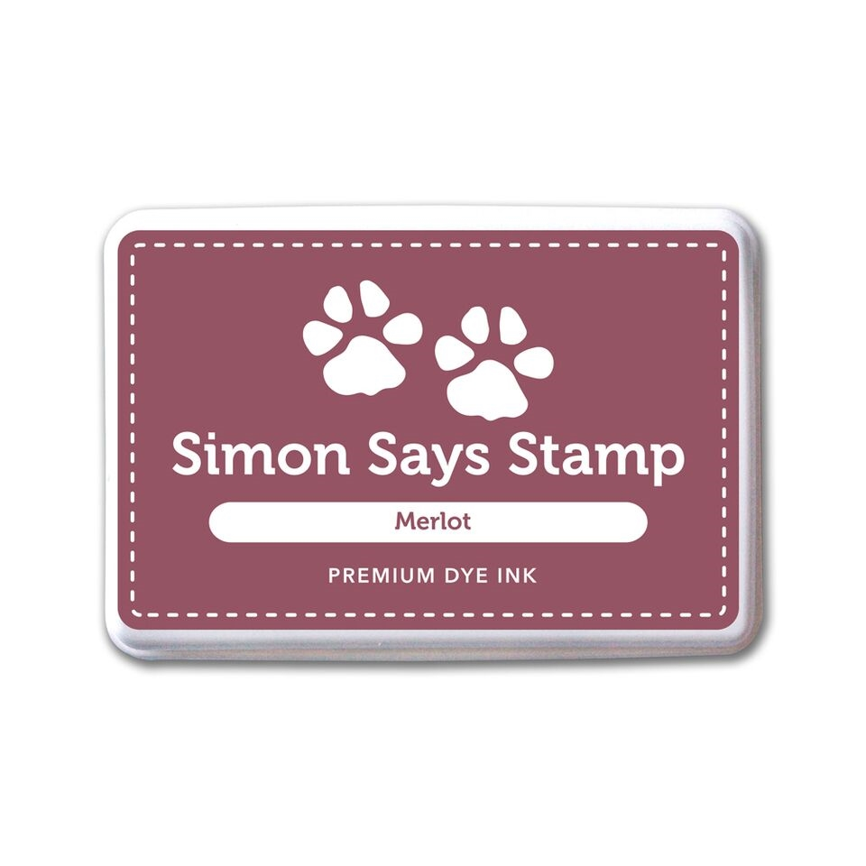 Simon Says Stamp Premium Dye Ink Pad MERLOT INK074 Believe In The Season zoom image