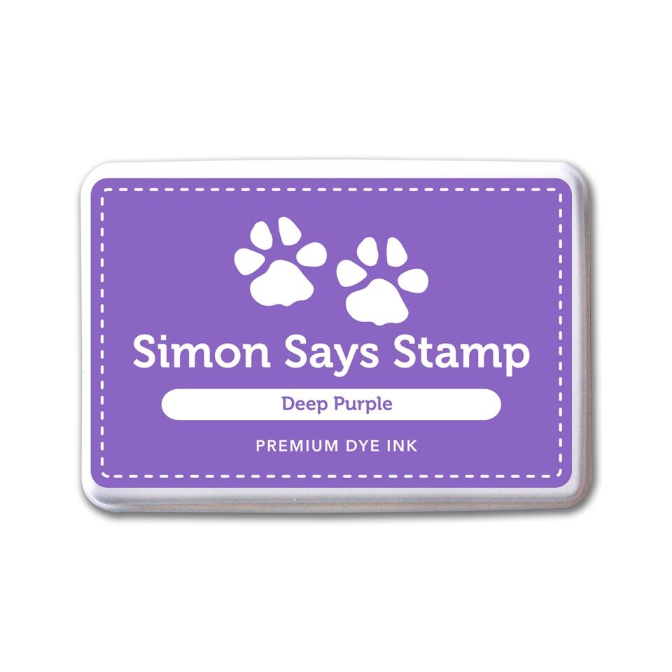 Simon Says Stamp Premium Dye Ink Pad DEEP PURPLE INK075 Believe In The Season zoom image