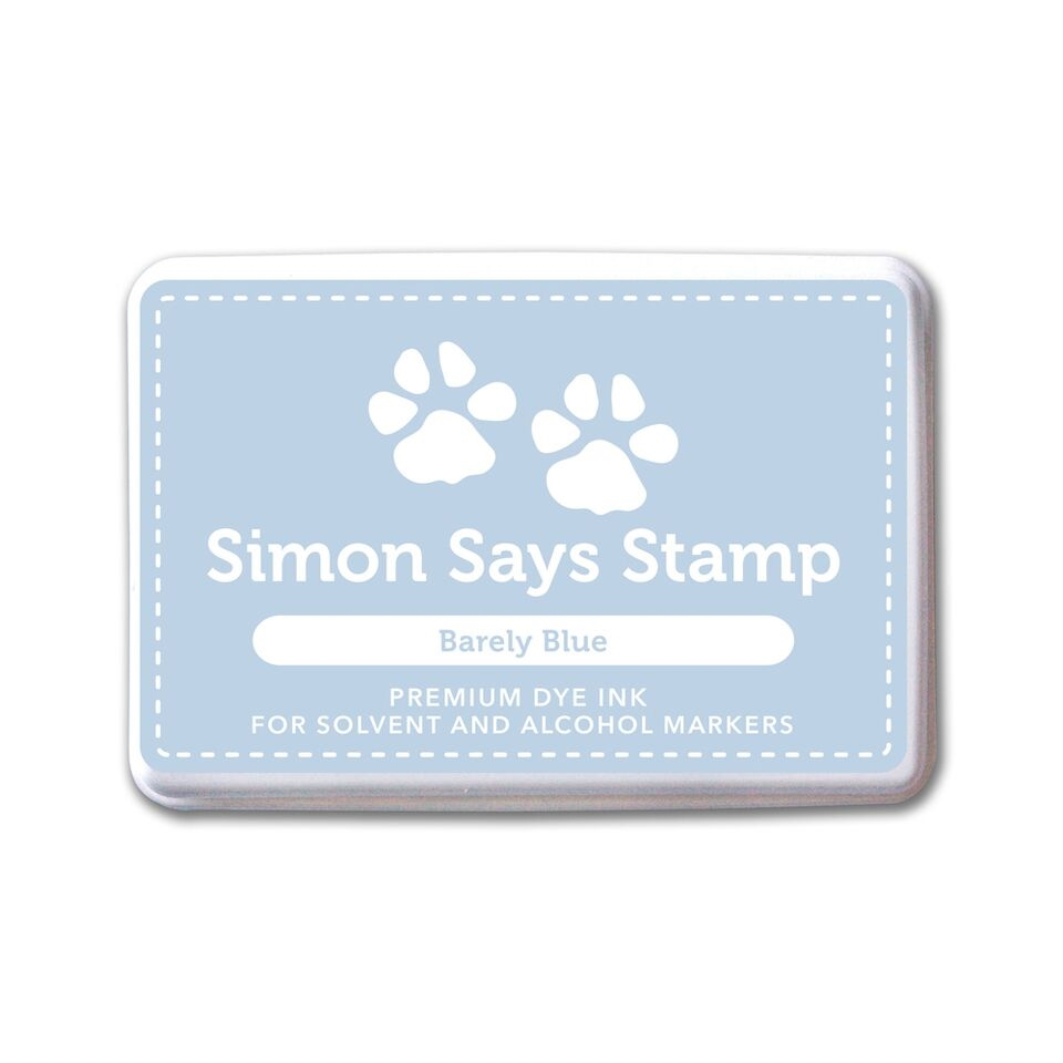Simon Says Stamp Dye Ink BARELY BLUE
