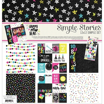Simple Stories HAPPY NEW YEAR 12 x 12 Collection Kit 2075