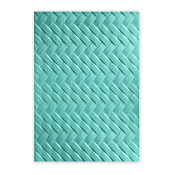 Sizzix Textured Impressions WOVEN 3D Embossing Folder 661261