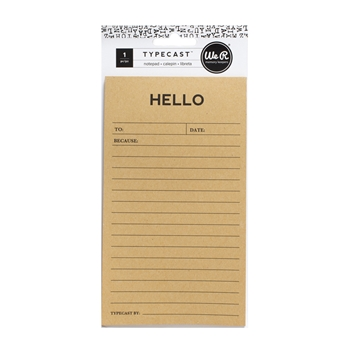 We R Memory Keepers HELLO NOTEPAD Typecast 310292