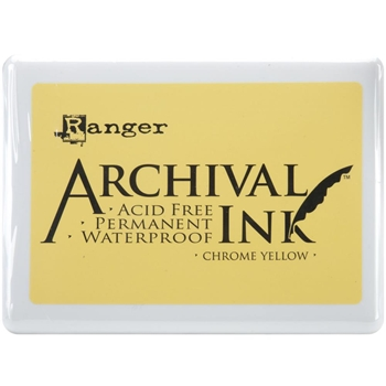 Ranger Archival Ink Pad JUMBO CHROME YELLOW A3P31390