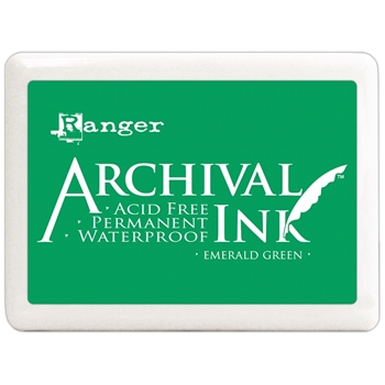 Ranger Archival Ink Pad JUMBO EMERALD GREEN A3P30515