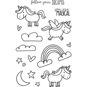 Jane's Doodles UNICORN Clear Stamp Set 742910
