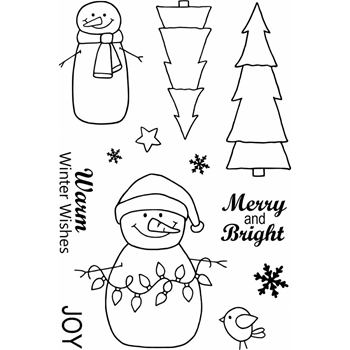 Jane's Doodles WARM WISHES Clear Stamp Set 742927