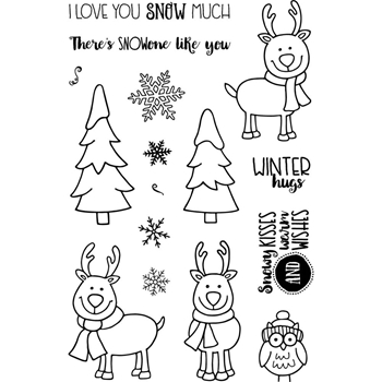 Jane's Doodles WINTER FUN Clear Stamp Set 742934