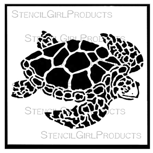 StencilGirl SEA TURTLE SMALL 6x6 Stencil S417 Preview Image