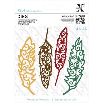 DoCrafts FILIGREE FEATHERS XCut Dies Set 503433