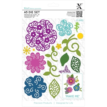 DoCrafts FILIGREE LAYERED FLOWER XCut Dies Set 503437