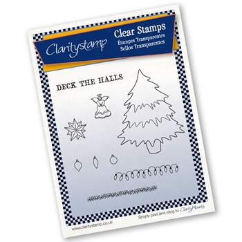 Claritystamp CHRISTMAS TREE AND DECORATIONS Clear Stamps And Mask STACH10366A5