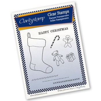 Claritystamp CHRISTMAS STOCKING AND TOYS Clear Stamps And Mask STACH10364A5