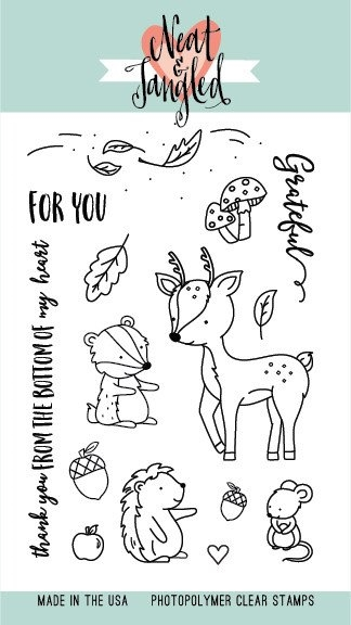 Neat and Tangled INTO THE WOODS Clear Stamp Set NAT212 zoom image