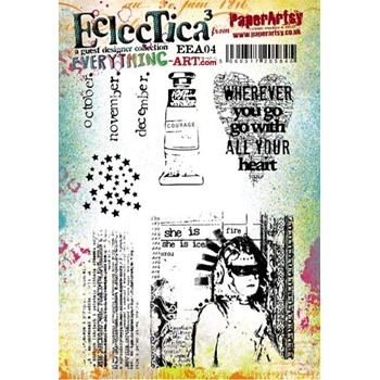 Paper Artsy EVERYTHING ART 04 ECLECTICA3 Rubber Cling Stamp EEA04