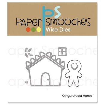 Paper Smooches GINGERBREAD HOUSE Wise Dies NOD353