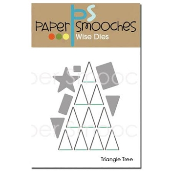 Paper Smooches TRIANGLE TREE Wise Dies NOD355