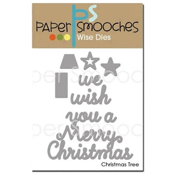 Paper Smooches CHRISTMAS TREE Wise Dies NOD351