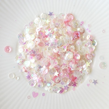 Little Things From Lucy's Cards COCONUT ICE Sequin Shaker Mix LB110