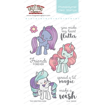 The Greeting Farm A LIL' MAGIC Clear Stamps TGF278