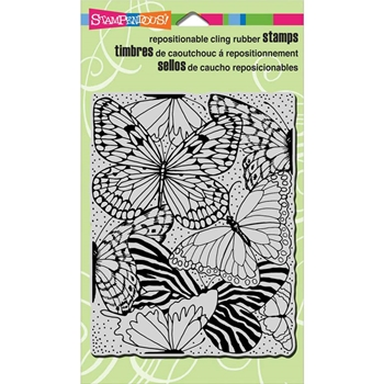 Stampendous Cling Stamp BUTTERFLY WINGS Rubber UM CRR282