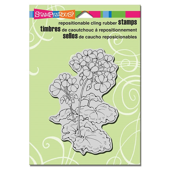 Stampendous Cling Stamp GERANIUMS Rubber UM CRP296 zoom image