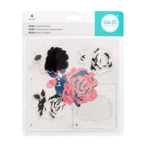 We R Memory Keepers ROSE Layering Stamp Set 663087 Preview Image