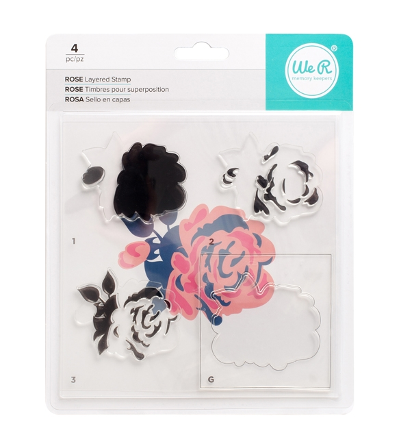 We R Memory Keepers ROSE Layering Stamp Set 663087 zoom image
