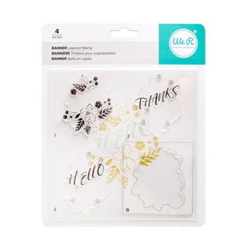 We R Memory Keepers BANNER Layering Stamp Set 663090