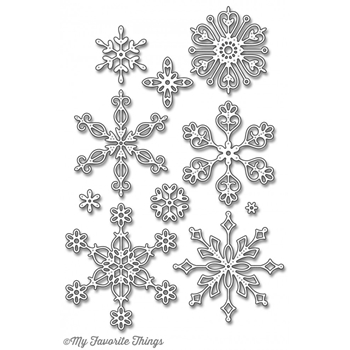 My Favorite Things STYLISH SNOWFLAKES Die-Namics MFT1012