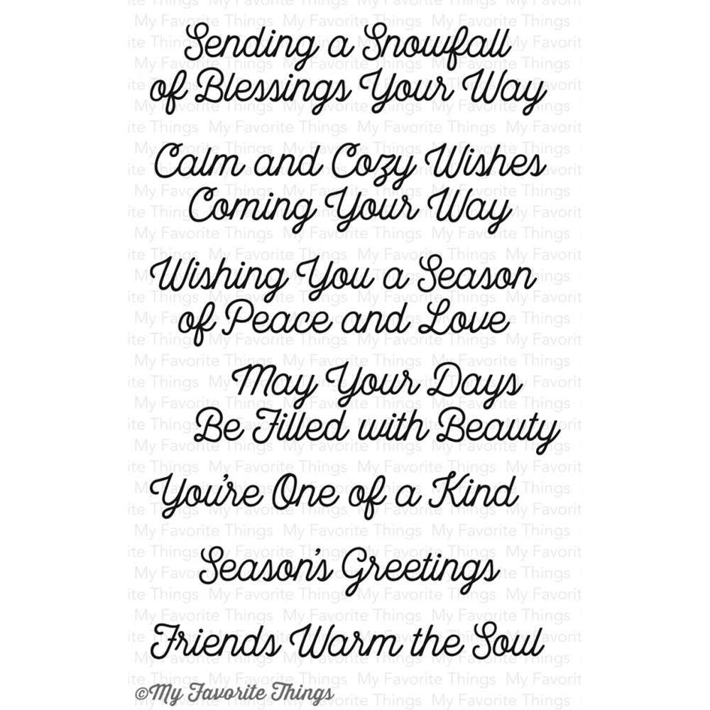 My Favorite Things SNOWFALL OF BLESSINGS Clear Stamps CS147 zoom image