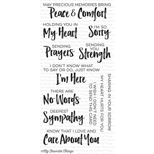 My Favorite Things DEEPEST SYMPATHY Clear Stamps CS156 Preview Image