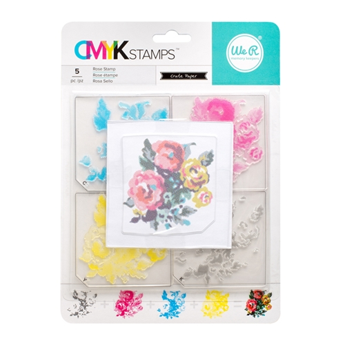We R Memory Keepers ROSE CMYK Layering Stamp Set 660544 Preview Image