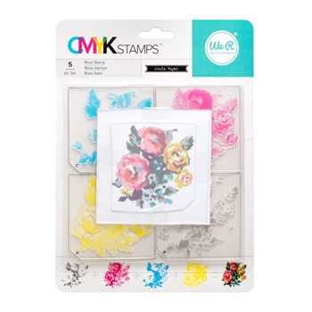 We R Memory Keepers ROSE CMYK Layering Stamp Set 660544