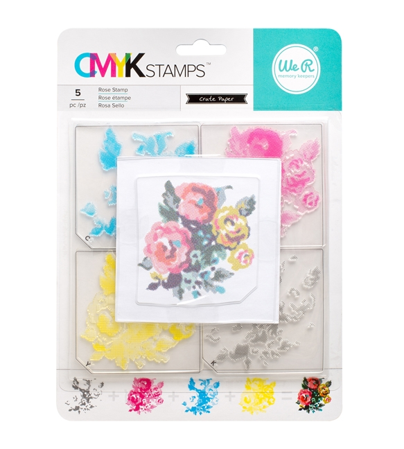 We R Memory Keepers ROSE CMYK Layering Stamp Set 660544 zoom image