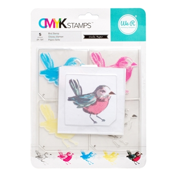 We R Memory Keepers BIRD CMYK Layering Stamp Set 660543