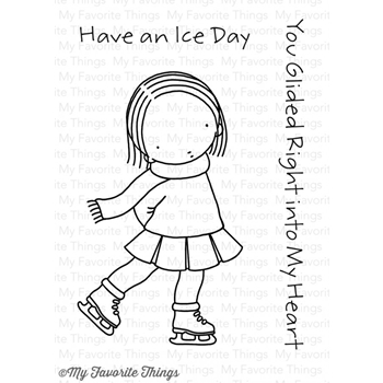 Pure Innocence ICE SKATER Clear Stamps MFT PI256