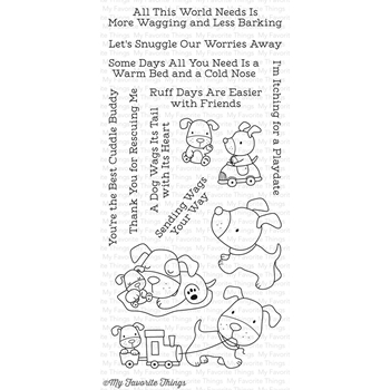 My Favorite Things PLAYFUL PUPS Clear Stamps CS157