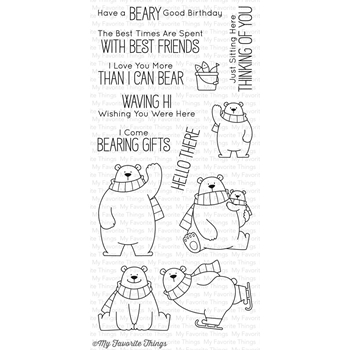 My Favorite Things POLAR BEAR PALS Clear Stamps BB40
