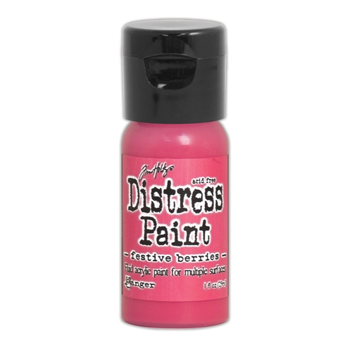Tim Holtz Flip Top Distress Paint FESTIVE BERRIES Ranger TDF53040 Preview Image