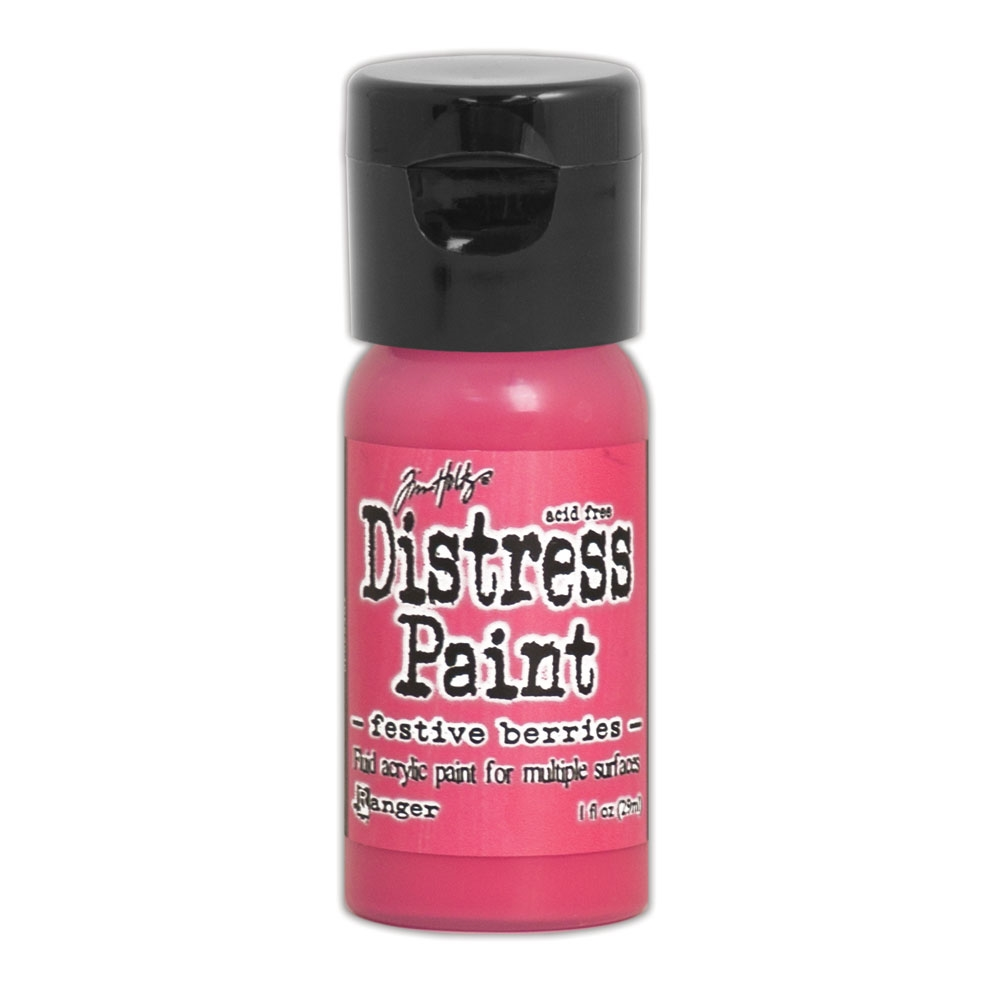 Tim Holtz Flip Top Distress Paint FESTIVE BERRIES Ranger TDF53040 zoom image