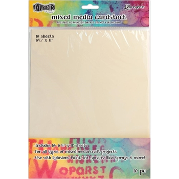 Ranger Dylusions 8.5 X 11 MIXED MEDIA CARDSTOCK DYA53804