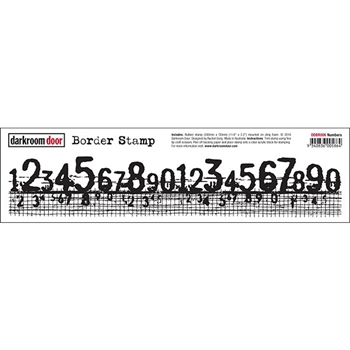 Darkroom Door Cling Stamp NUMBERS Border Rubber UM DDBR006