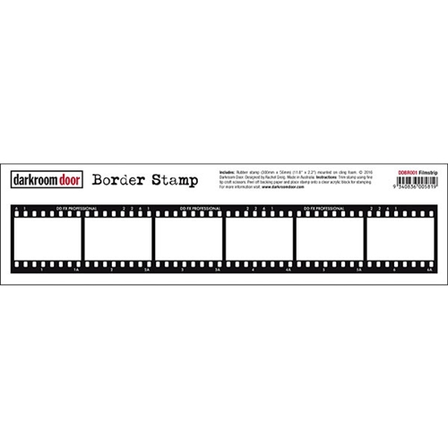 Darkroom Door Cling Stamp FILMSTRIP Border Rubber UM DDBR001 Preview Image