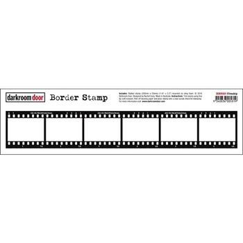 Darkroom Door Cling Stamp FILMSTRIP Border Rubber UM DDBR001