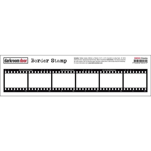 Darkroom Door Cling Stamp FILMSTRIP Border Rubber UM DDBR001 zoom image