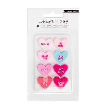 Crate Paper HEART DAY Rubber Shapes 375916
