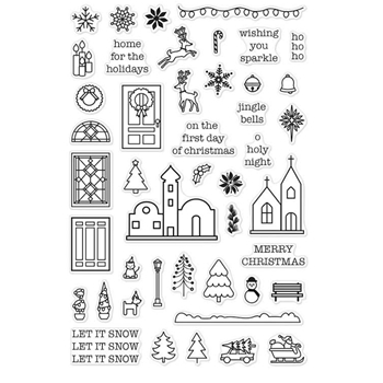 Hero Arts Clear Stamps MINI CHRISTMAS CM122