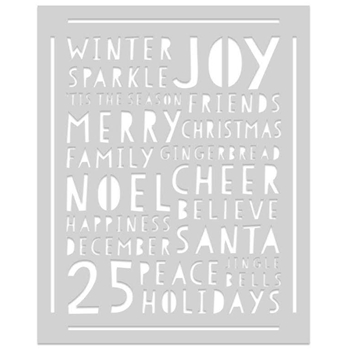 Hero Arts Stencil HOLIDAY WORD SA087